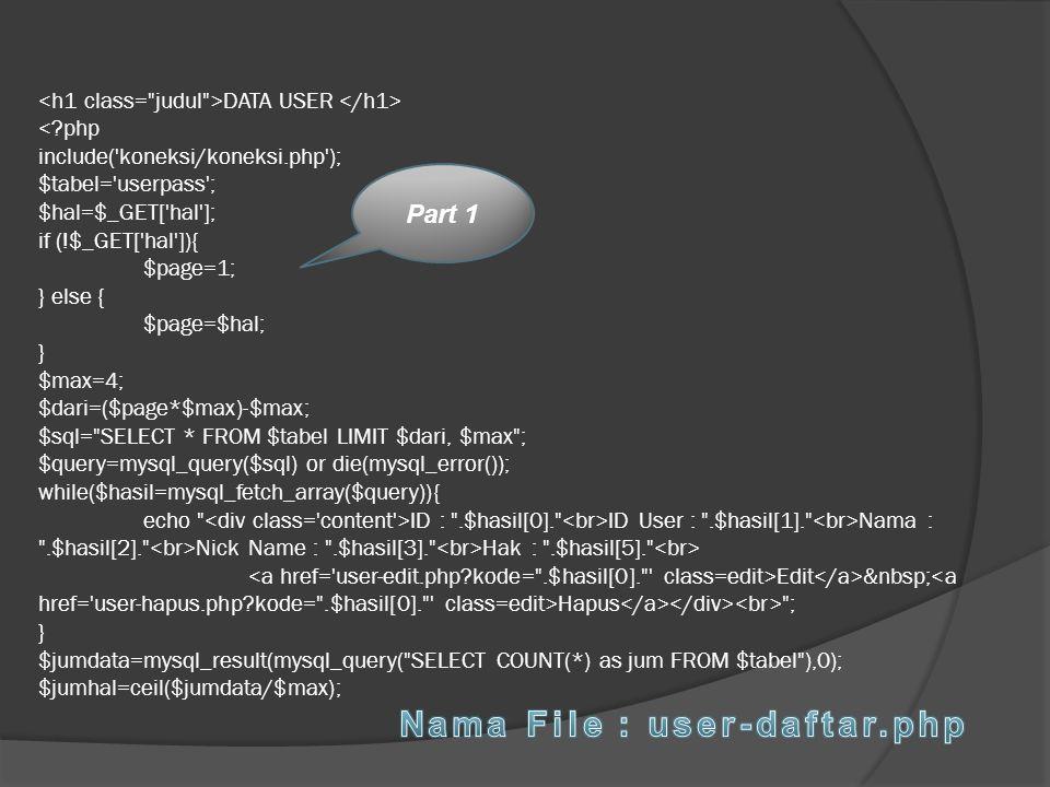 DATA USER ID :
