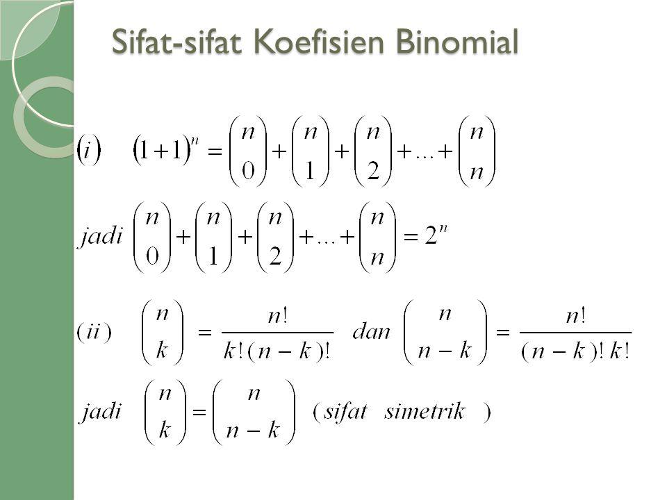 Sifat-sifat Koefisien Binomial
