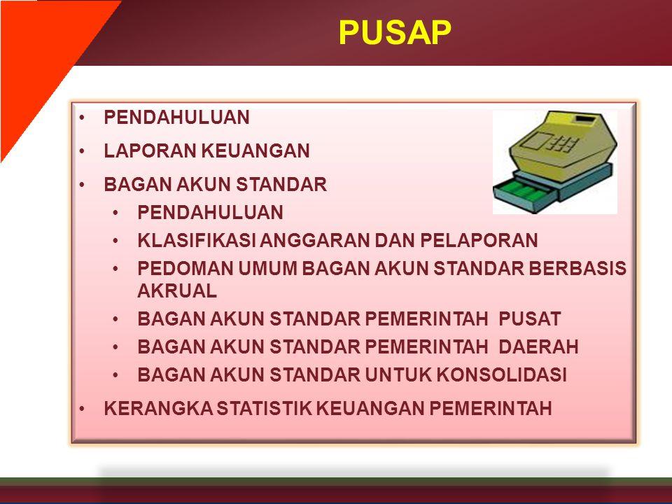 FORMAT UMUM LAPORAN KEUANGAN • Format laporan keuangan untuk pemerintah pusat mengikuti ketentuan yang diatur Menteri Keuangan.