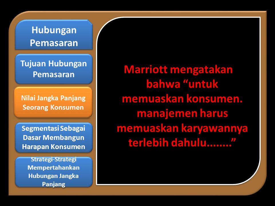 Marriott mengatakan bahwa untuk memuaskan konsumen.