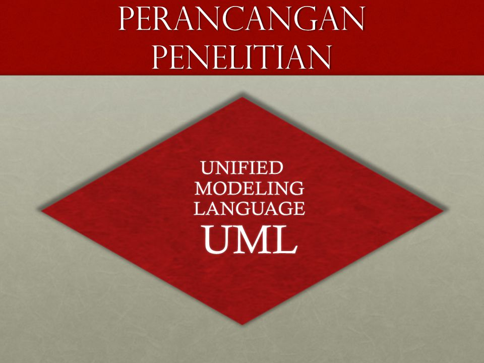 PERANCANGAN PENELITIAN UNIFIED MODELING LANGUAGE UML