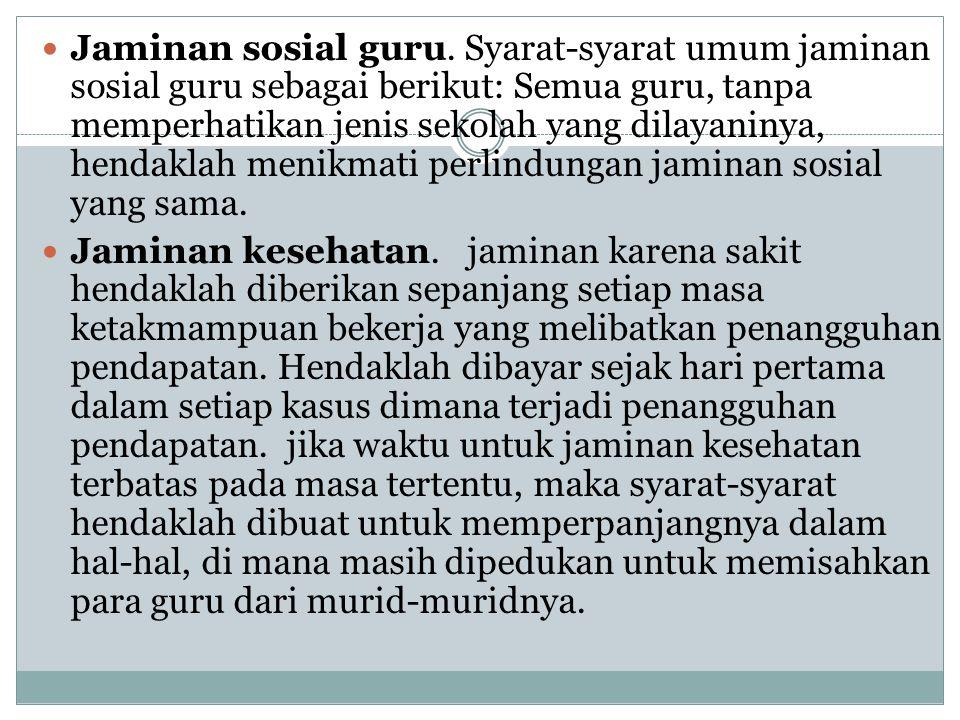  Jaminan sosial guru.