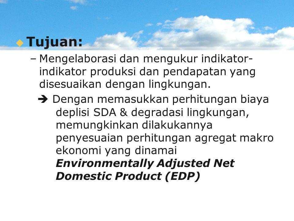   Tujuan: – –Mengelaborasi dan mengukur indikator- indikator produksi dan pendapatan yang disesuaikan dengan lingkungan.