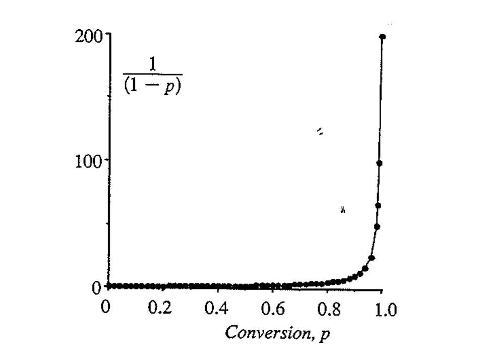 Jika nilai k (konstanta laju poliesterifikasi tanpa katalis) tidak dapat diabaikan dari nilai k' (konstanta laju poli- esterifikasi dengan katalis), maka laju reaksi polimerisasi merupakan jumlah dari kedua mekanisme tersebut: (20) Jika konsentrasi awal equimolar, [COOH] = [OH] = C, maka pers.