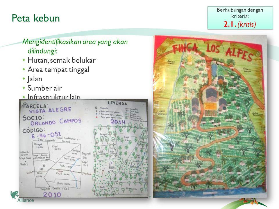 2 Peta kebun Berhubungan dengan kriteria: 2.1.(kritis) Berhubungan dengan kriteria: 2.1.