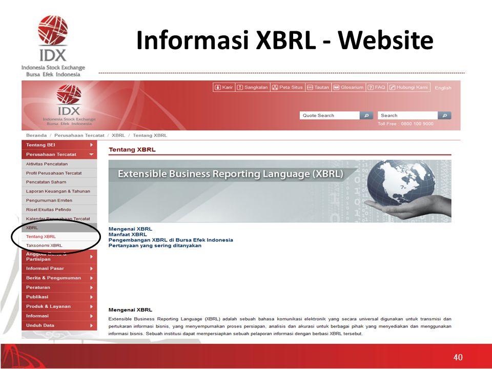 Informasi XBRL - Website 40