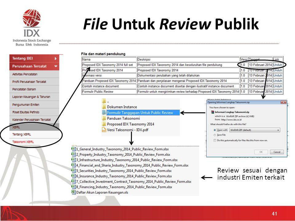 File Untuk Review Publik Review sesuai dengan industri Emiten terkait 41