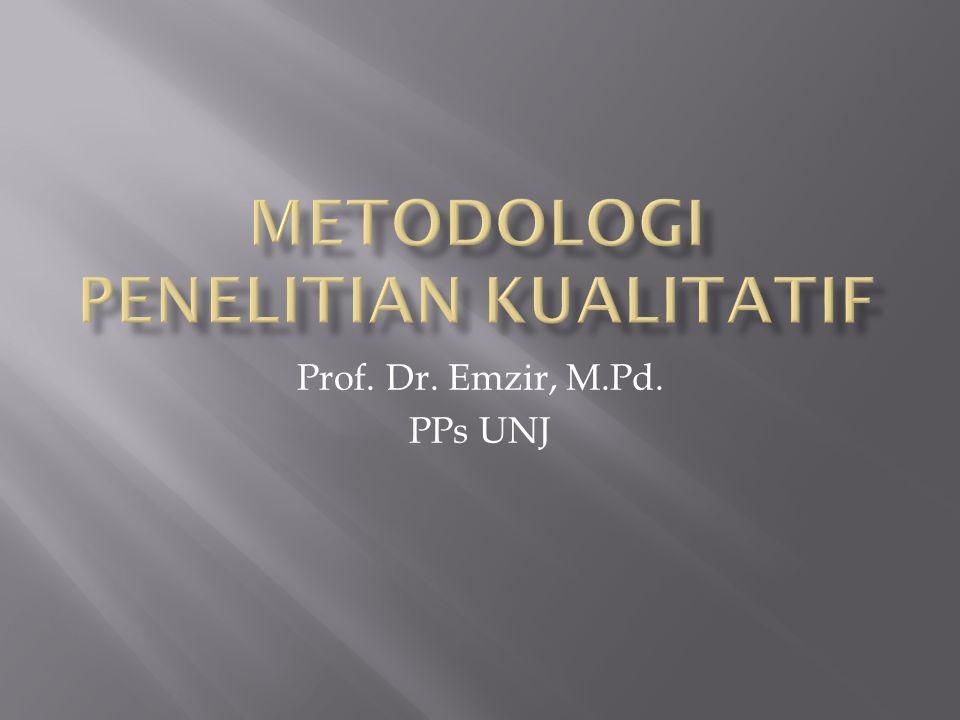 Prof. Dr. Emzir, M.Pd. PPs UNJ