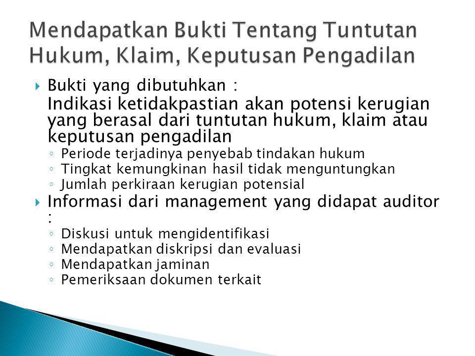 MMelakukan surat konfirmasi dengan penasehat hukum klien BBagaimana pengaruh jawaban surat konfirmasi terhadap laporan auditor???