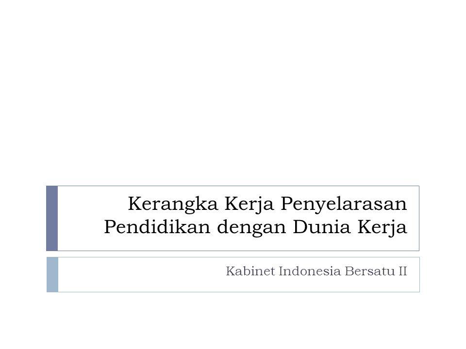 Kerangka Kerja Penyelarasan Pendidikan dengan Dunia Kerja Kabinet Indonesia Bersatu II