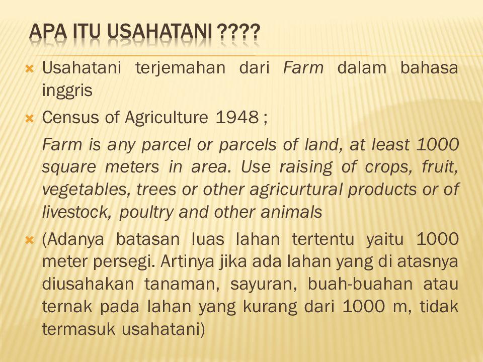 INPUT ON FARM PROCESSING MARKETING SUPPORTING SYSTEM (AGRISERVICES) Kedudukan usahatani dalam agribisnis