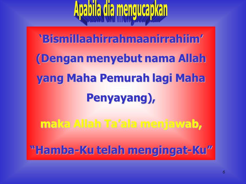 5 Al-Fatihah terbagi dua, Ayat 1 - 4 : untuk Allah; Ayat 5 : untuk Allah dan Hamba-Nya; Ayat 6 - 7 : untuk Hamba-Nya Shalat juga bisa diartikan sebaga