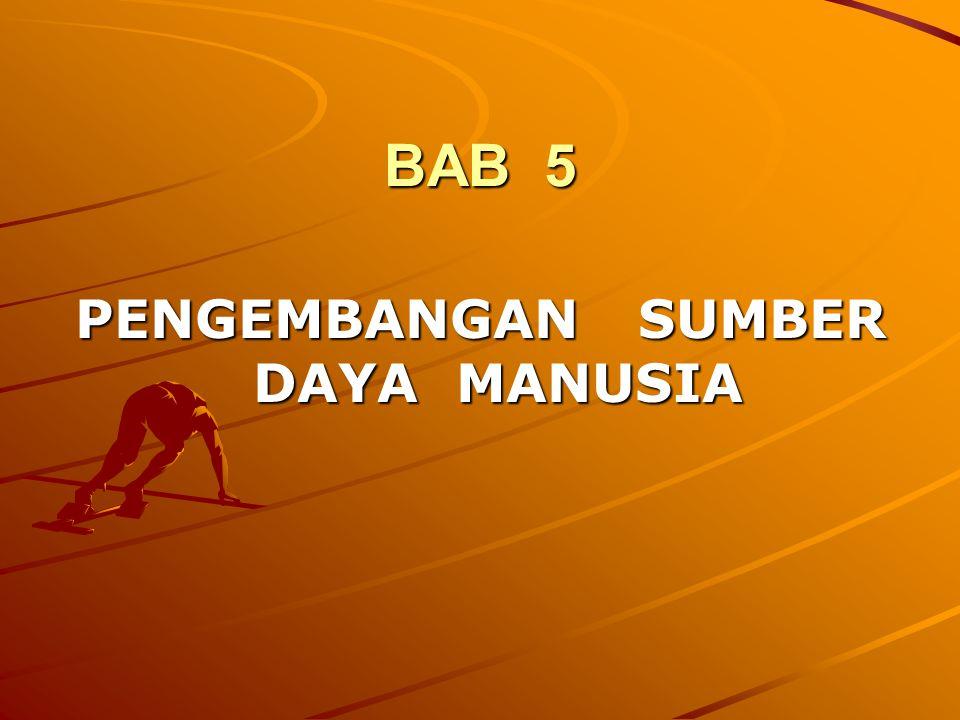 BAB 5 PENGEMBANGAN SUMBER DAYA MANUSIA