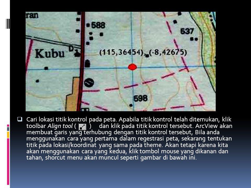  Cari lokasi titik kontrol pada peta.