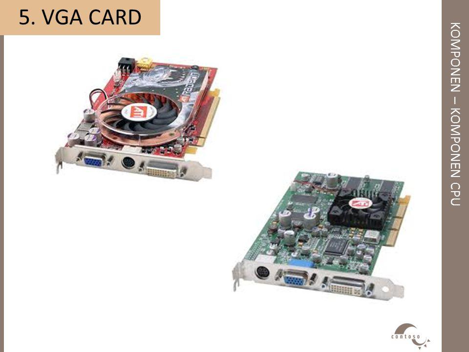 KOMPONEN – KOMPONEN CPU 5. VGA CARD