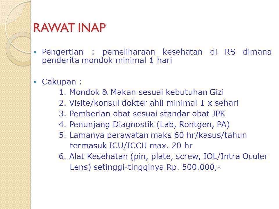 SISDUR RAWAT INAP PPK II Poli/dr Spesialis Perintah • Rawat • One Day Care (ODC) •P.