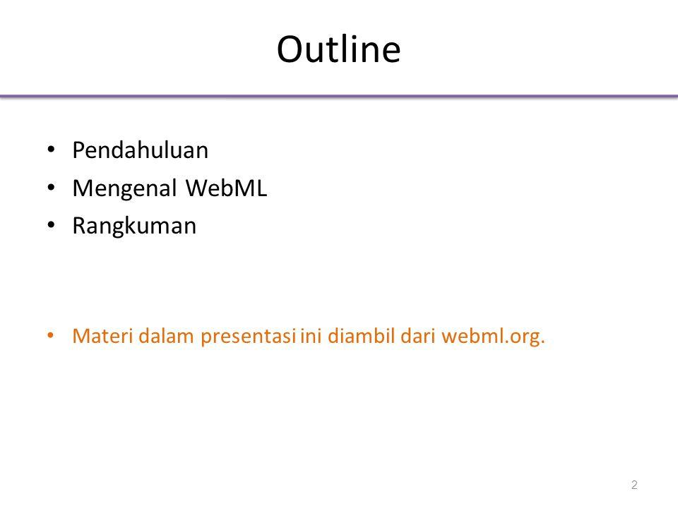Pendahuluan • Mengapa WebML? 3