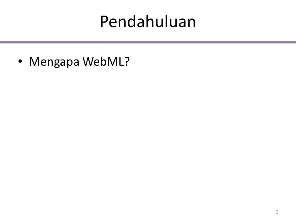 Tujuan WebML • WebML bermaksudf menyediakan suatu pendekatan terstruktur untuk perancangan situs web yang bersifat Data-intensive.