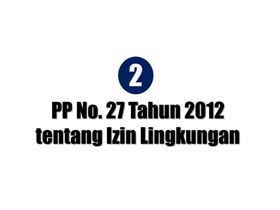 PP No. 27 Tahun 2012 tentang Izin Lingkungan 2