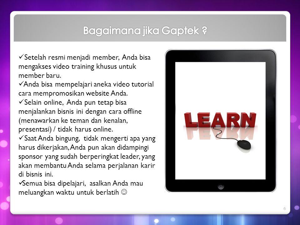  Setelah resmi menjadi member, Anda bisa mengakses video training khusus untuk member baru.  Anda bisa mempelajari aneka video tutorial cara memprom