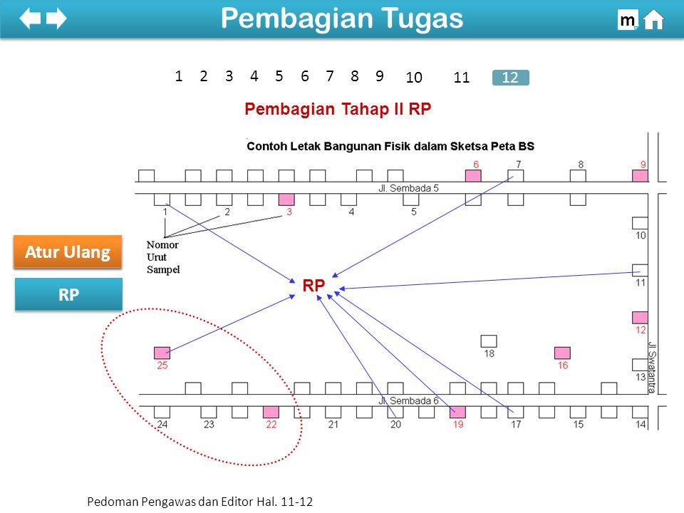 Pembagian Tahap II RP RP 100% Sketsa Peta Atur Ulang Pembagian Tugas m Pedoman Pengawas dan Editor Hal.