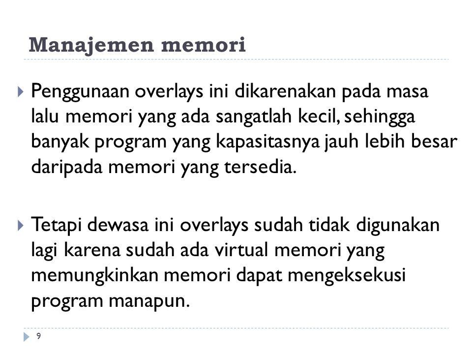 Alokasi Memori 10