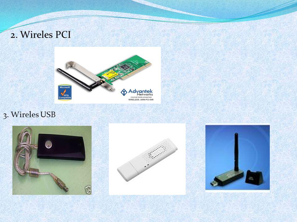 2. Wireles PCI 3. Wireles USB