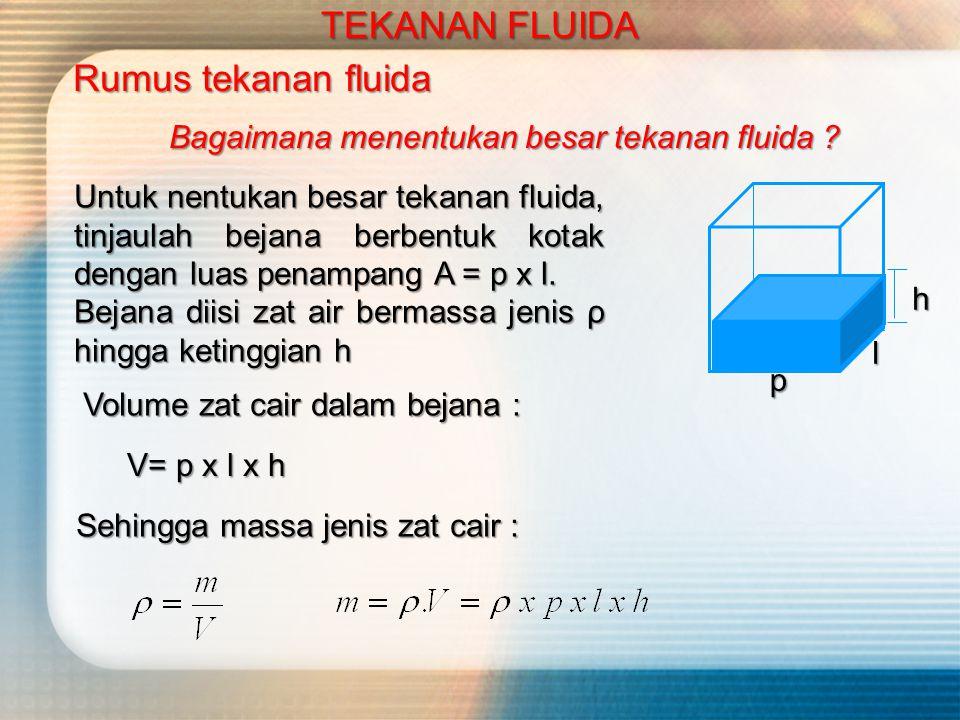 TEKANAN FLUIDA Tekanan Fluida Dari contoh-contoh gambar di bawah ini, kesimpulan apa yang bisa kita dapatkan .