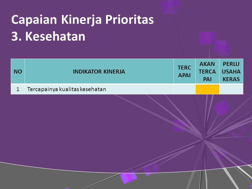 Capaian Kinerja Prioritas 3.
