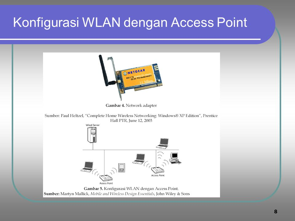 8 Konfigurasi WLAN dengan Access Point