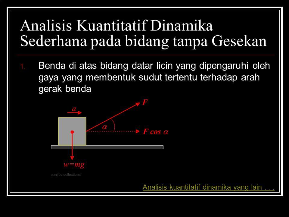 Analisis Kuantitatif Dinamika Sederhana pada bidang tanpa Gesekan 1.
