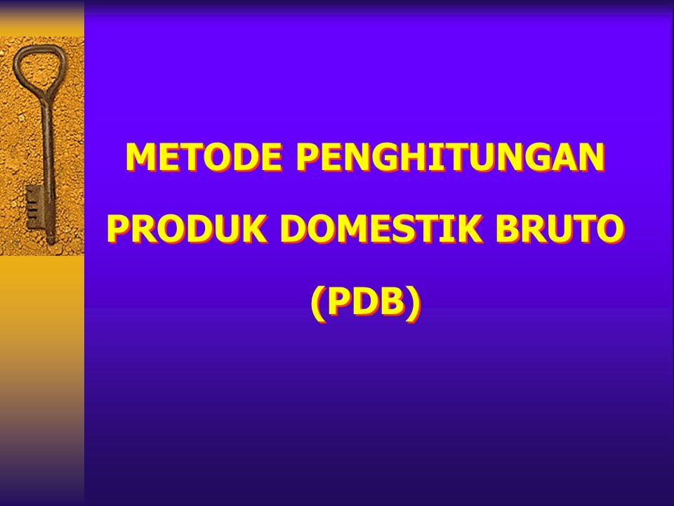 METODE PENGHITUNGAN PRODUK DOMESTIK BRUTO (PDB)