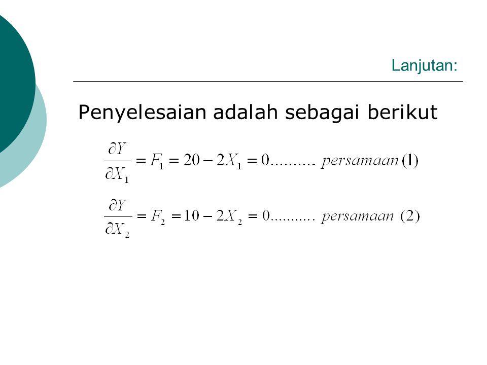 III.Contoh Penentuan Titik Optimum Fungsi.
