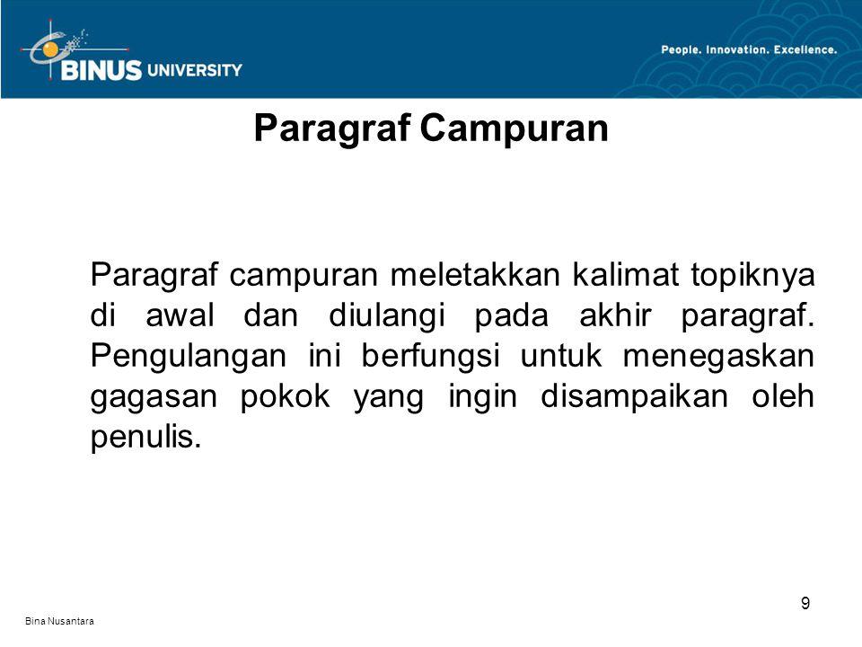 Bina Nusantara Peningkatan taraf pendidikan para petani sama pentingnya dengan usaha peningkatan taraf hidup.