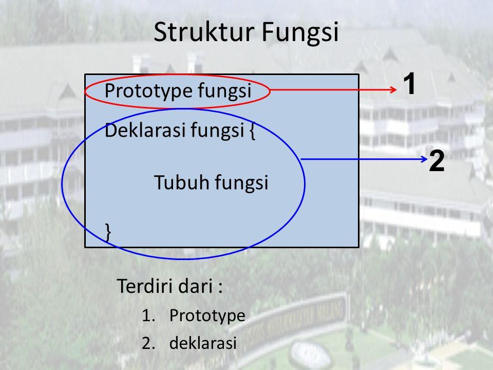 Fungsi Buatan Sendiri • Langkah apa yang harus dilakukan untuk membuat fungsi.