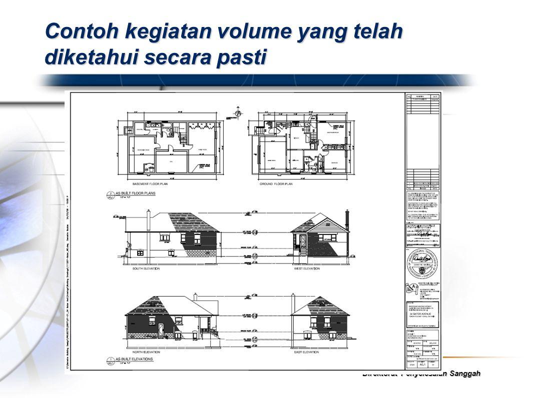 Fadli Arif Direktorat Penyelesaian Sanggah Contoh kegiatan volume yang telah diketahui secara pasti
