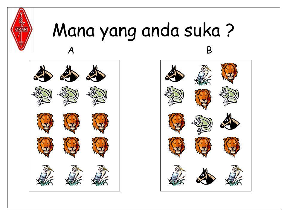 Mana yang anda suka ? AB