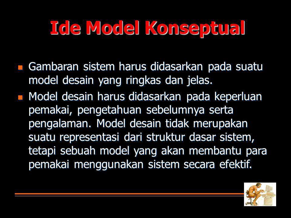  Gambaran sistem harus didasarkan pada suatu model desain yang ringkas dan jelas.
