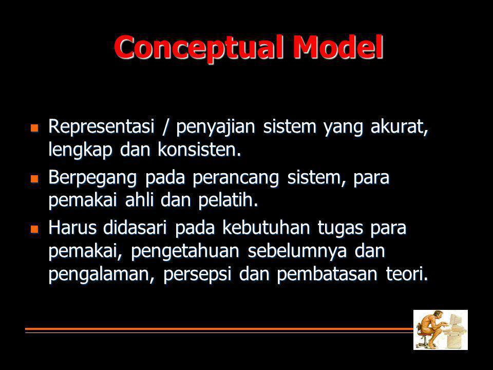  Representasi / penyajian sistem yang akurat, lengkap dan konsisten.