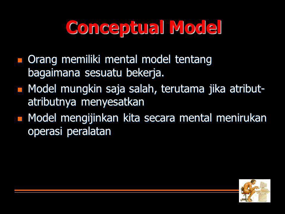  Orang memiliki mental model tentang bagaimana sesuatu bekerja.