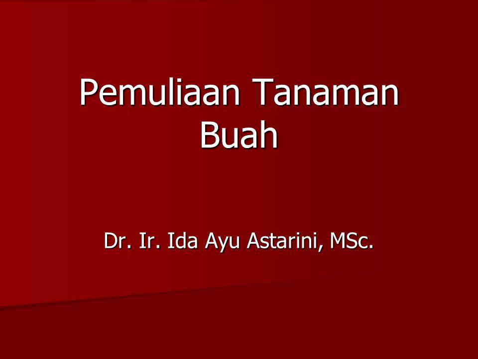 Pemuliaan Tanaman Buah Dr. Ir. Ida Ayu Astarini, MSc.