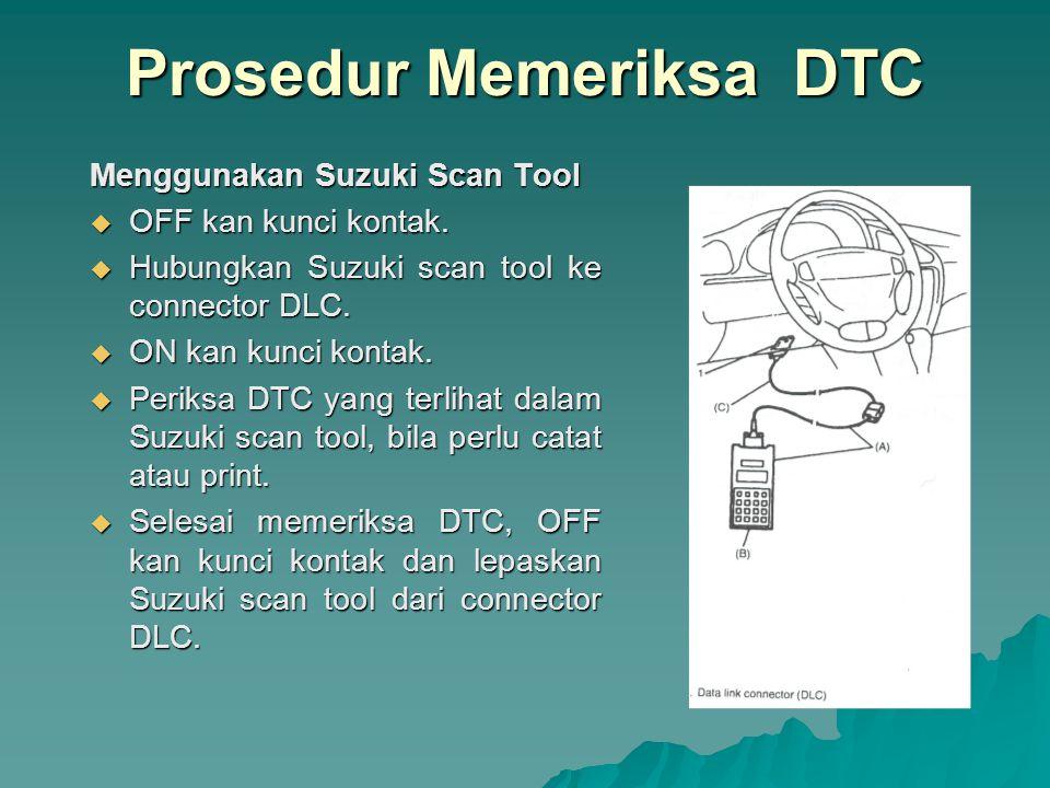 Tanpa Menggunakan Suzuki Scan Tool  Gunakan service wire untuk menghubungkan ground pada connector-1 switch diagnosis.