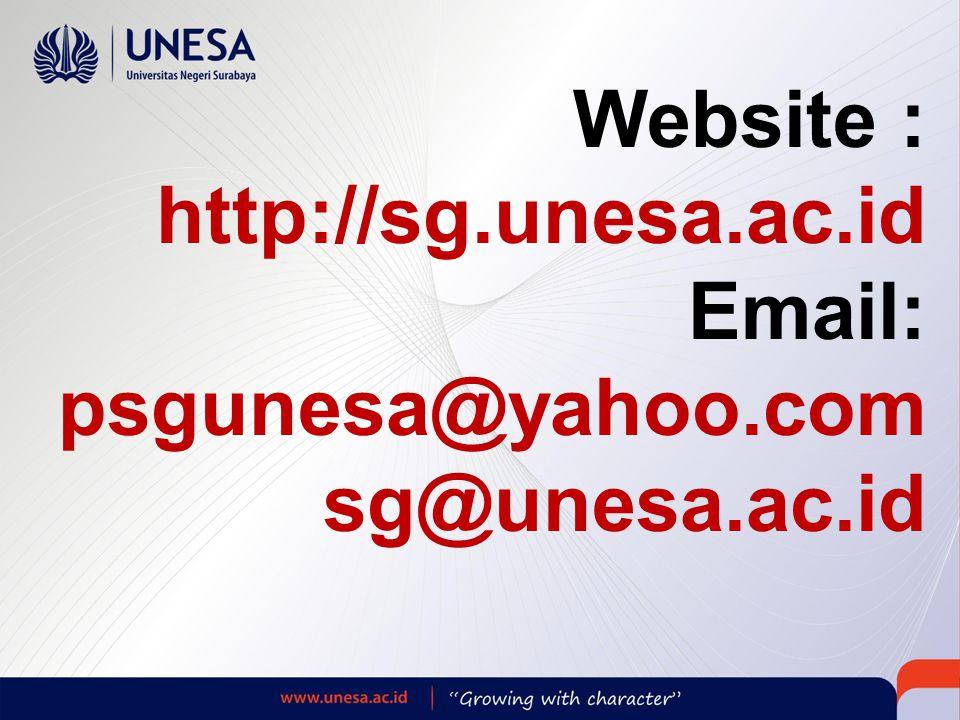 Website : http://sg.unesa.ac.id Email: psgunesa@yahoo.com sg@unesa.ac.id