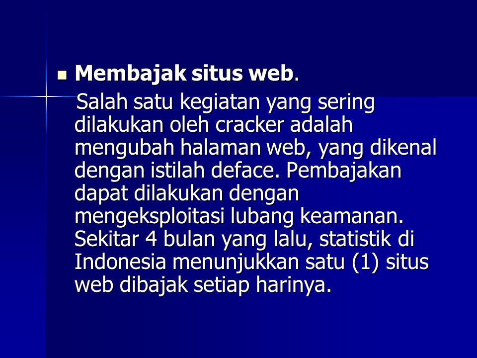  Membajak situs web.