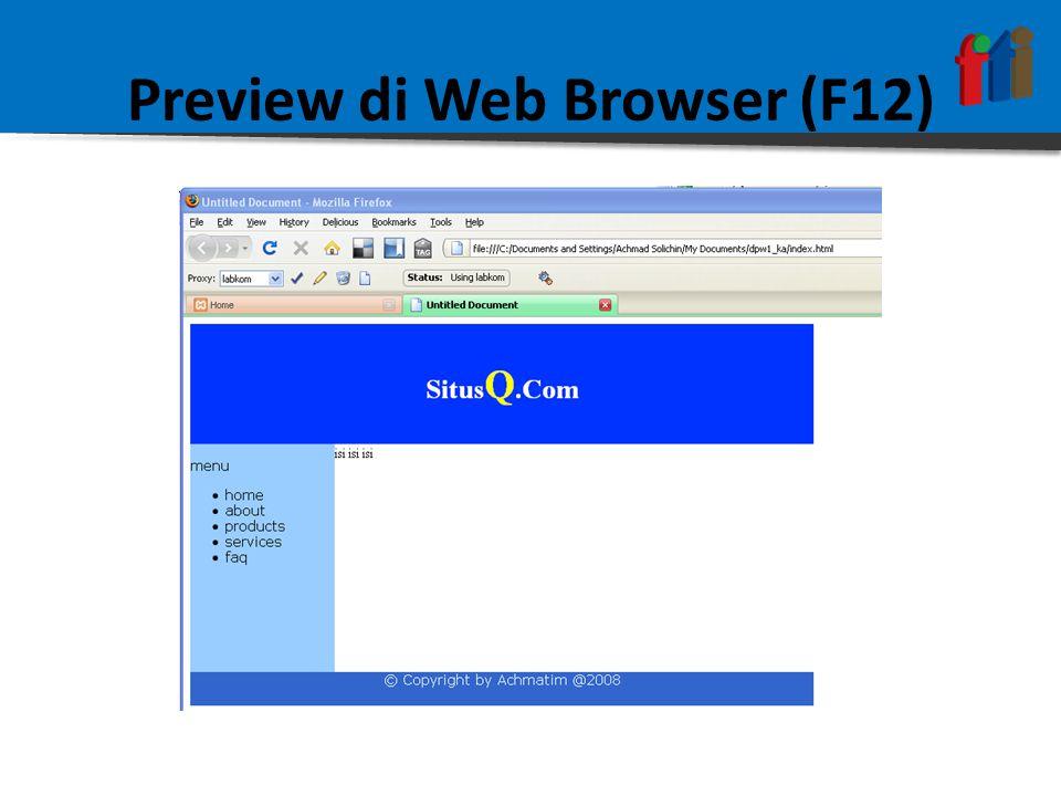 Preview di Web Browser (F12)