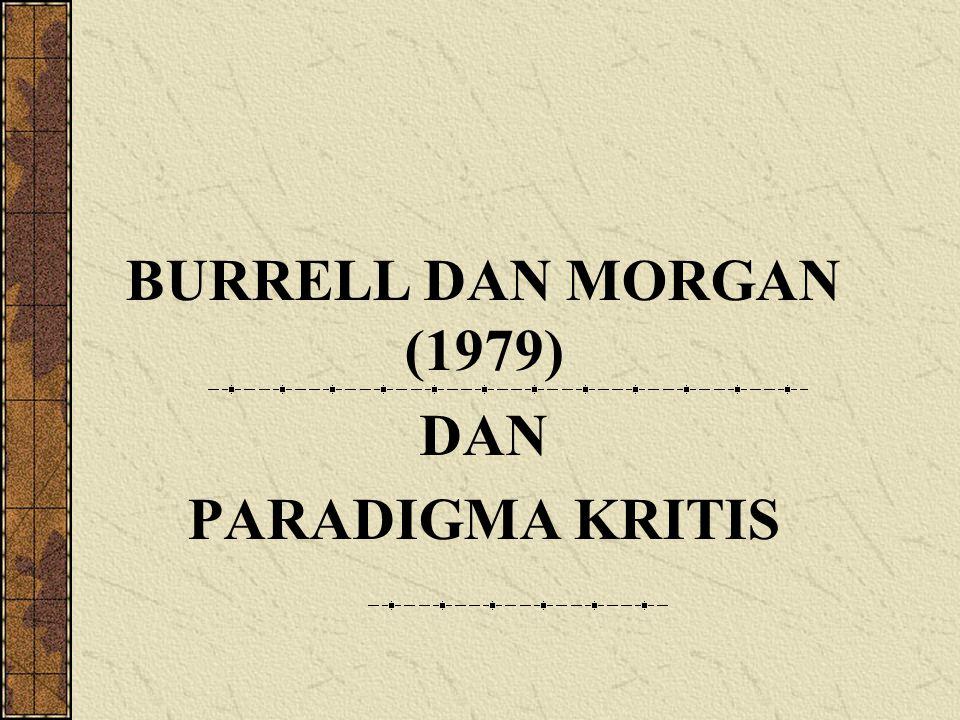 BURRELL DAN MORGAN (1979) DAN PARADIGMA KRITIS