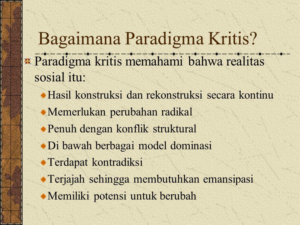Bagaimana Paradigma Kritis.