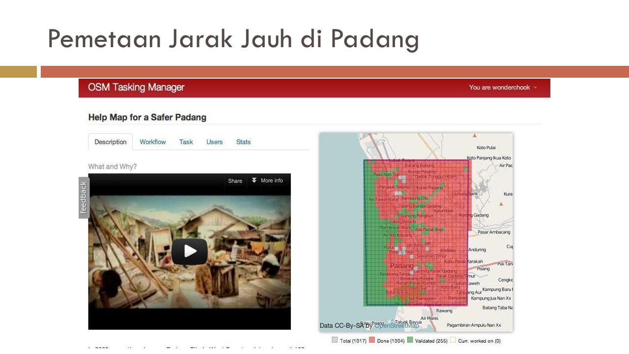 Pemetaan Jarak Jauh di Padang