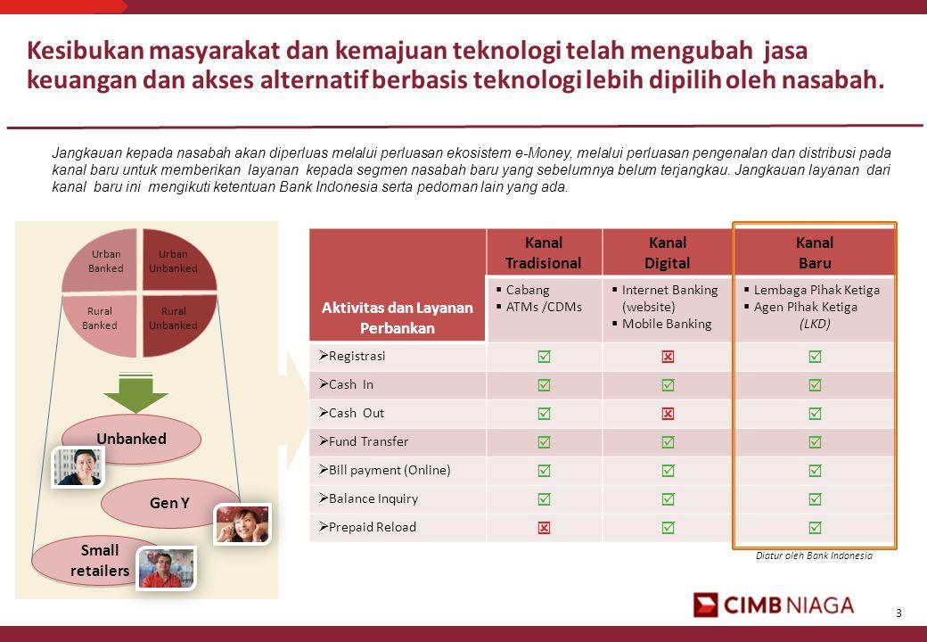 e-M oney dapat menunjang Sistim Keuangan dengan menyediakan alternatif solusi keuangan yang murah dan menunjang program inklusi keuangan.