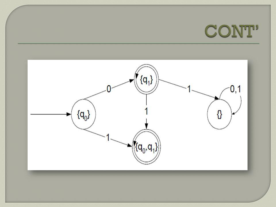 Def 1.ε -move adalah suatu transisi antara 2 status tanpa adanya input.